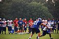 Eli Manning and QBs at 2007 Giants camp.jpg