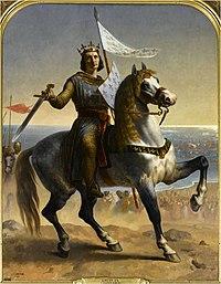 Pintura Luís IX de França por Emile Signol (1839, Palácio de Versailles)