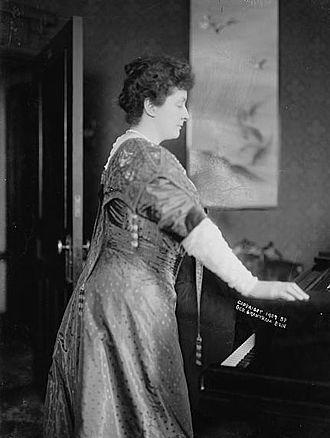 Emma Eames - Emma Eames contemplates her piano