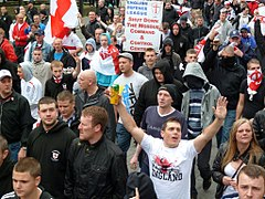 English Defence League protest in Newcastle