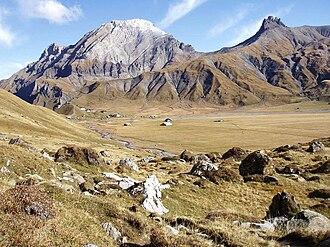 Adelboden - Engstligenalp plateau in autumn.