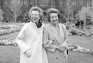 Enid A. Haupt - Enid Haupt (left) with Lady Bird Johnson at the Smithsonian