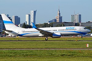 Enter Air - Boeing 737-800 at Warsaw Chopin Airport