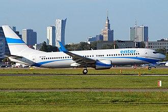 Enter Air - Boeing 737-800 at Warsaw Chopin Airport