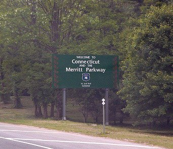 Entering the Merritt Parkway in Greenwich
