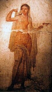 Son of Aphrodite and Hermes in Greek mythology