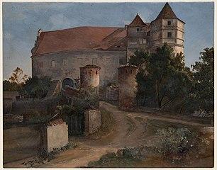 Entrance to Scharfenberg Castle
