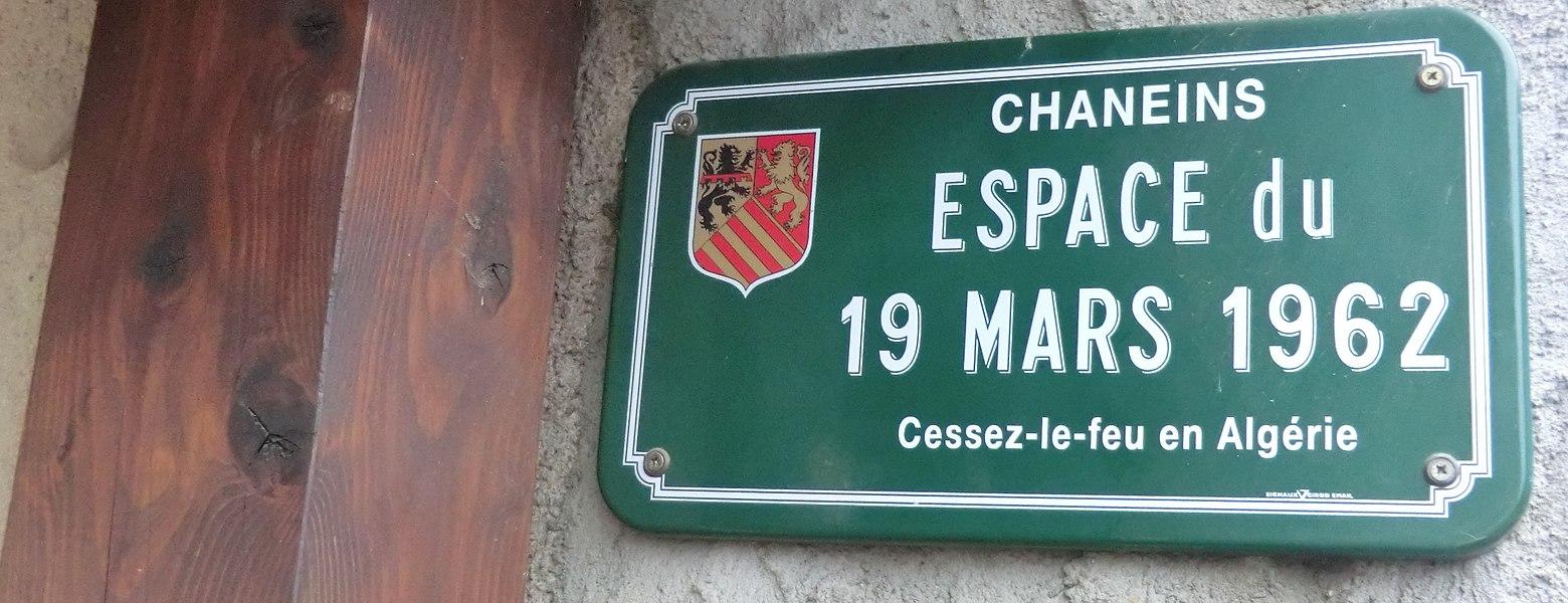 Espace du 19-mars-1962 à Chaneins.