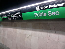 Interieur van station Poble Sec