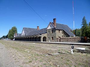 Servicios Ferroviarios Patagónico - San Carlos de Bariloche station, terminus.
