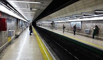 Manuel Becerra (Madrid Metro) - Image: Estación de metro de Manuel Becerra