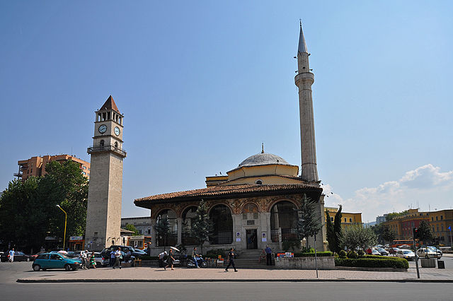 The Et'hem Bey Mosque & Clock Tower.