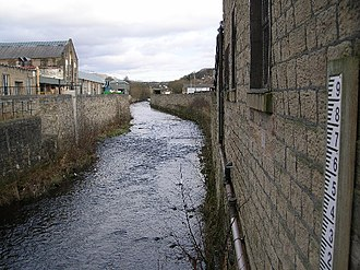 River Etherow - The river in Hollingworth