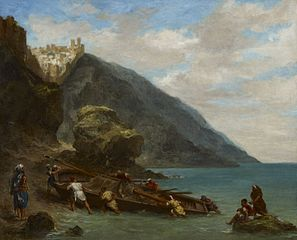 View of Tangier from the Seashore