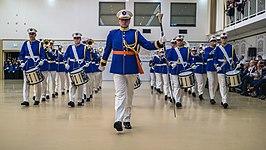 Show & Marchingband Euroband Rotterdam in het nieuwe uniform dat op 1 februari 2020 in gebruik werd genomen.
