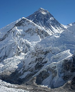 Everest från Kala Patthar i Nepal