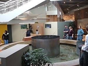 Explora (Albuquerque, New Mexico) - The laminar flow fountain and some of the exhibits