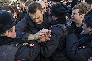 Alexei Navalny - Navalny arrested during the 2017 Russian protests on 26 March 2017