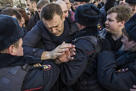 Navalny arrested during the 2017 Russian protests on 26 March 2017 FEV 1921.jpg