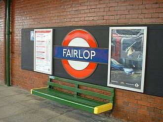 Fairlop tube station - Image: Fairlop roundel