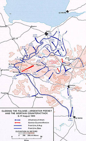 Counterattack - Closing the Falaise-Argentan Pocket and the Mortain counterattack 6–17 August 1944