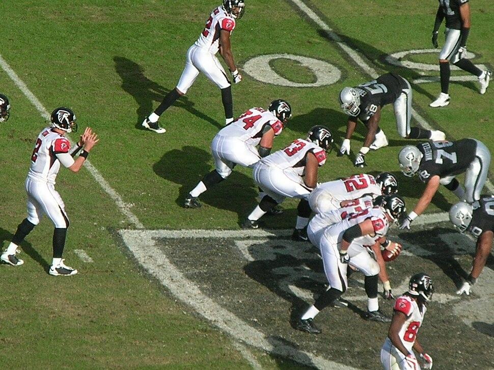 Falcons on offense at Atlanta at Oakland 11-2-08 12