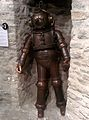 Faulty copper diving suit in Estonian Maritime Museum.jpg