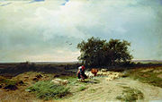 Fedor Vasilyev Return of the herd 1868.jpg