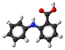 Ball-and-stick model of fenamic acid