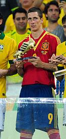 Torres premiato con la Scarpa d'oro quale miglior marcatore della FIFA Confederations Cup 2013