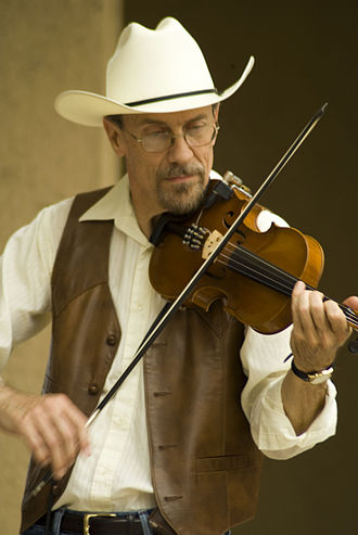 American fiddle - Fiddler in Wichita Riverfest