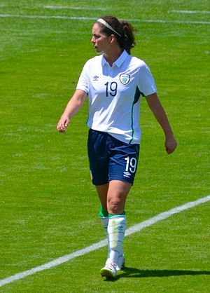 Fiona O'Sullivan - Playing for Ireland in May 2015