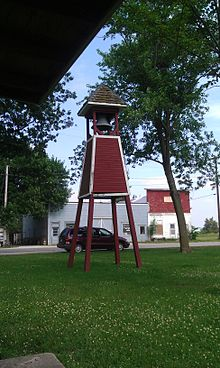 Fire Bell in the city park of Macksburg.jpg