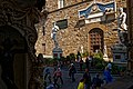 Firenze - Florence - Loggia dei Lanzi - View East on Michelangelo's David, Entrance to Palazzo Vecchio & Bandinelli's Hercules.jpg