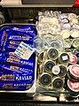 Fiskebryggen, Mathallen, Fishmarket, Bergen, Norway 2018-03-18. Norwegian caviar in tubes, cans, etc. for sale.jpg