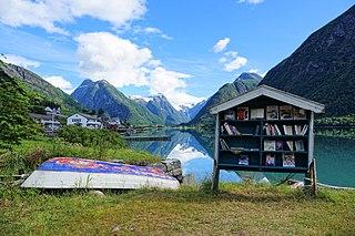 Fjærland Village in Western Norway, Norway
