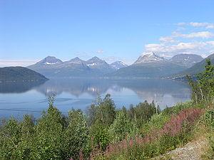 Troms - Balsfjord in central Troms