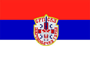 Operation Sana - Image: Flag of the Serbian Volunteer Guard