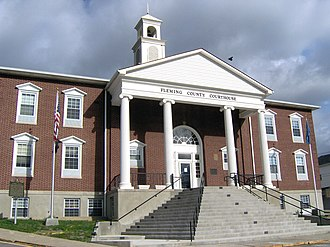 Fleming County, Kentucky - Image: Fleming County, Kentucky courthouse 2