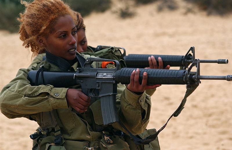 File:Flickr - Israel Defense Forces - Female Soldiers Practice Shooting (1).jpg