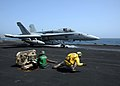 Flickr - Official U.S. Navy Imagery - An F-A-18 Hornet launches aboard USS Enterprise..jpg