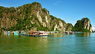 Floating Market in Fishing Village in Ha Long Bay, Vietnam - panoramio (2).jpg