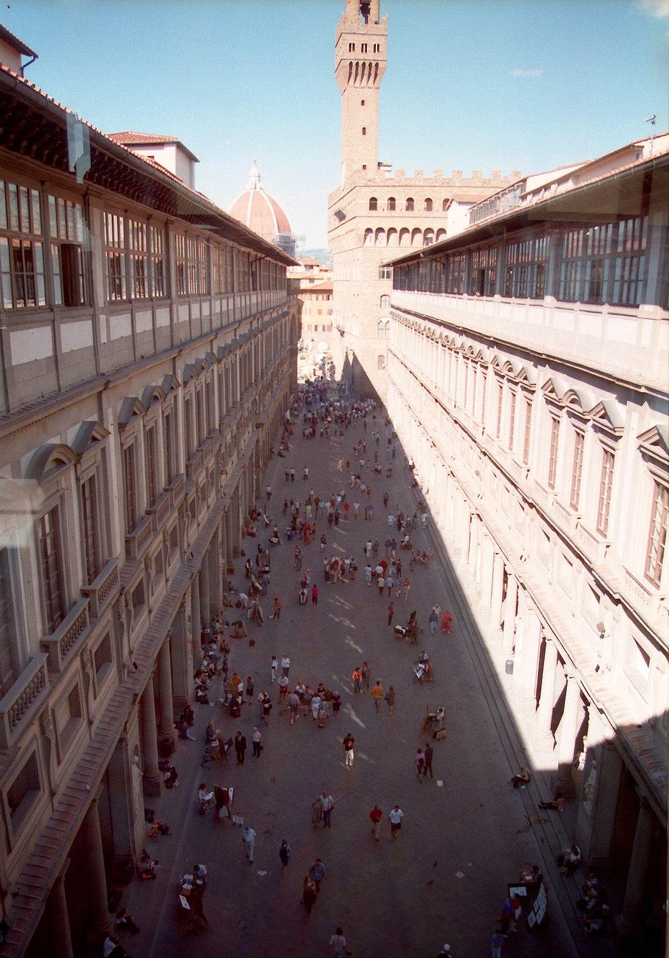 Florenz Uffizien Aussenansicht
