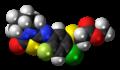 Fluthiacet-methyl molecule spacefill.png