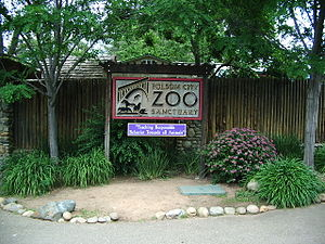 Folsom City Zoo Sanctuary - Sign at the entrance to the Folsom City Zoo Sanctuary