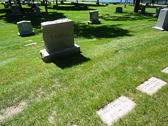William Watts Folwell - Folwell's grave at Lakewood Cemetery in Minneapolis