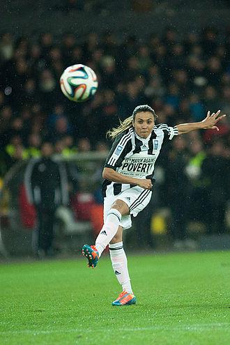 Football player - A women's association football player