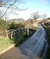 Ford (dry) where Newton Lane crosses Newton Beck - geograph.org.uk - 123569.jpg
