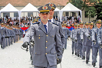 Training of soldiers of the Military Police of Sao Paulo State at the Military Police Academy of Barro Branco. Formacaodapmesp.jpg