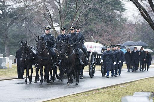 Former senator, WWII veteran buried at Arlington 150310-A-DZ999-024